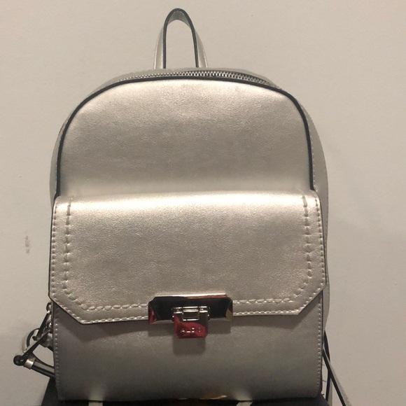 Aldo Bags | Aldo Silver Backpack | Poshmark
